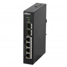 Dahua PFS4206-4P-120 Коммутатор POE сетевой индустриальный 4 портовый (управляемый)
