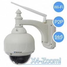 Уличная (до -35 градусов) поворотная WIFI IP камера с 3-х кратным оптическим зум и HD качеством видео